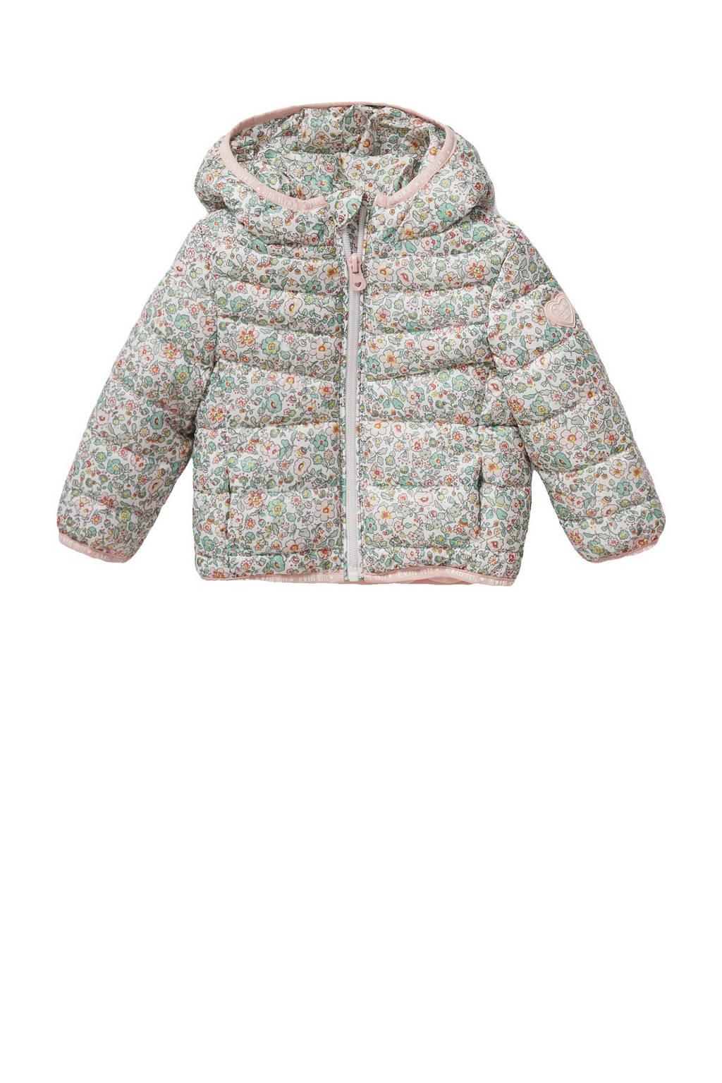 C&A Baby Club baby gewatteerde zomerjas met all over print mintgroen, Mintgroen