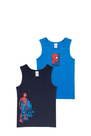 hemd Spider-Man - set van 2 kobalt blauw/donkerblauw/rood