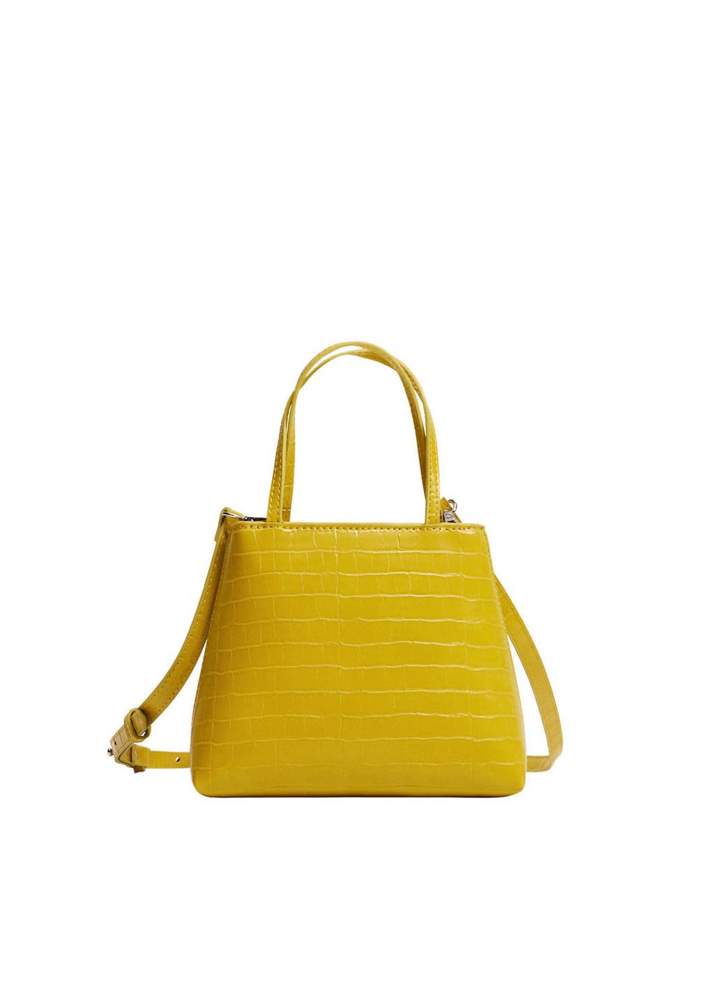 Mango  crossbody tas geel, Geel