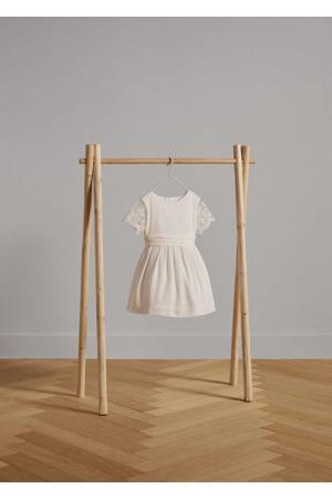 jurk met kant naturel wit