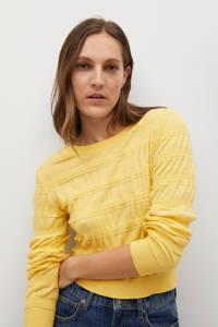 Mango trui met textuur geel, Geel