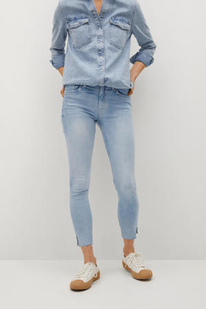 cropped skinny jeans changeant blauw