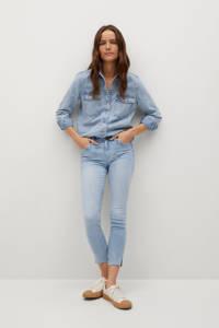 Mango cropped skinny jeans changeant blauw