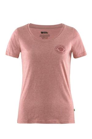 outdoor T-shirt rood melange