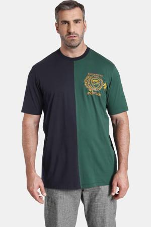 T-shirt EARL VERNON Plus Size met borduursels donkerblauw/groen
