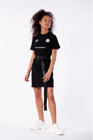 jurk met logo zwart