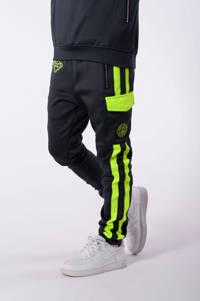 BLACK BANANAS unisex skinny broek Anorak Match met logo grijs/geel, Grijs/geel