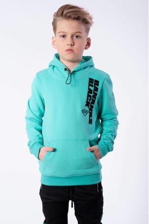 hoodie Verso met logo blauw