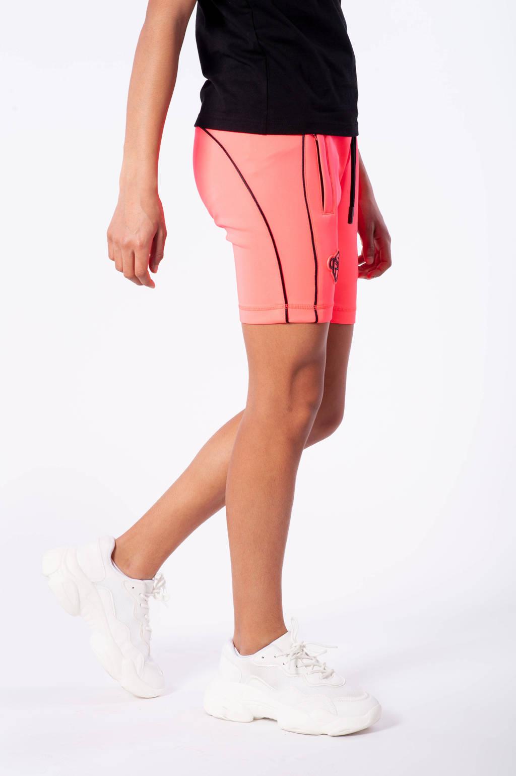 BLACK BANANAS skinny short Piping met logo roze, Roze