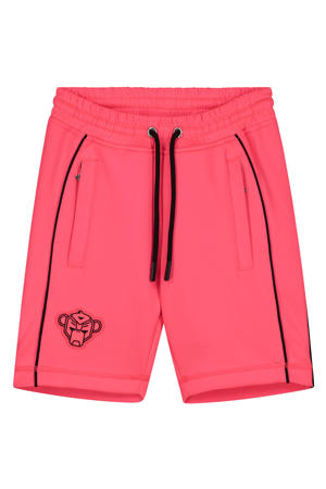 skinny short Piping met logo roze