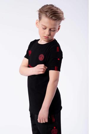 T-shirt Unity met logo zwart/rood
