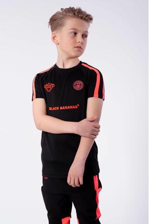 unisex T-shirt F.C. Match met logo zwart