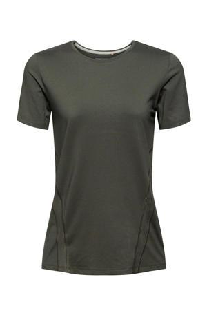 sport T-shirt donkergroen