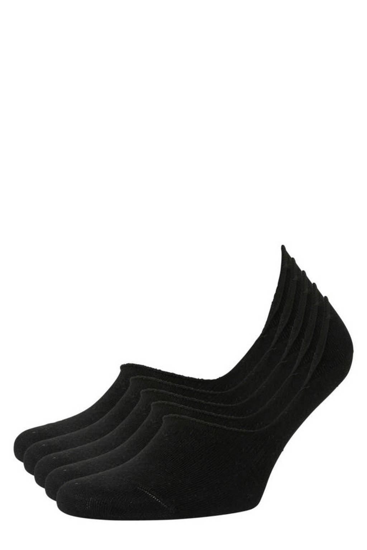 anytime no-show sneakersokken - set van 5 zwart, Zwart