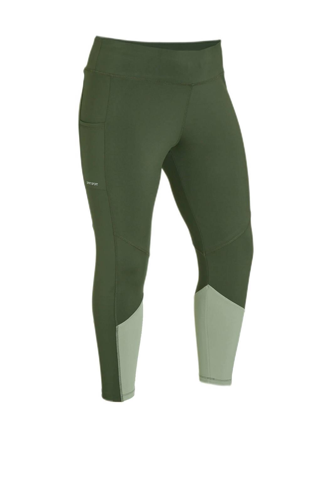 ESPRIT Women Sports Plus Size sportlegging kaki, Groen