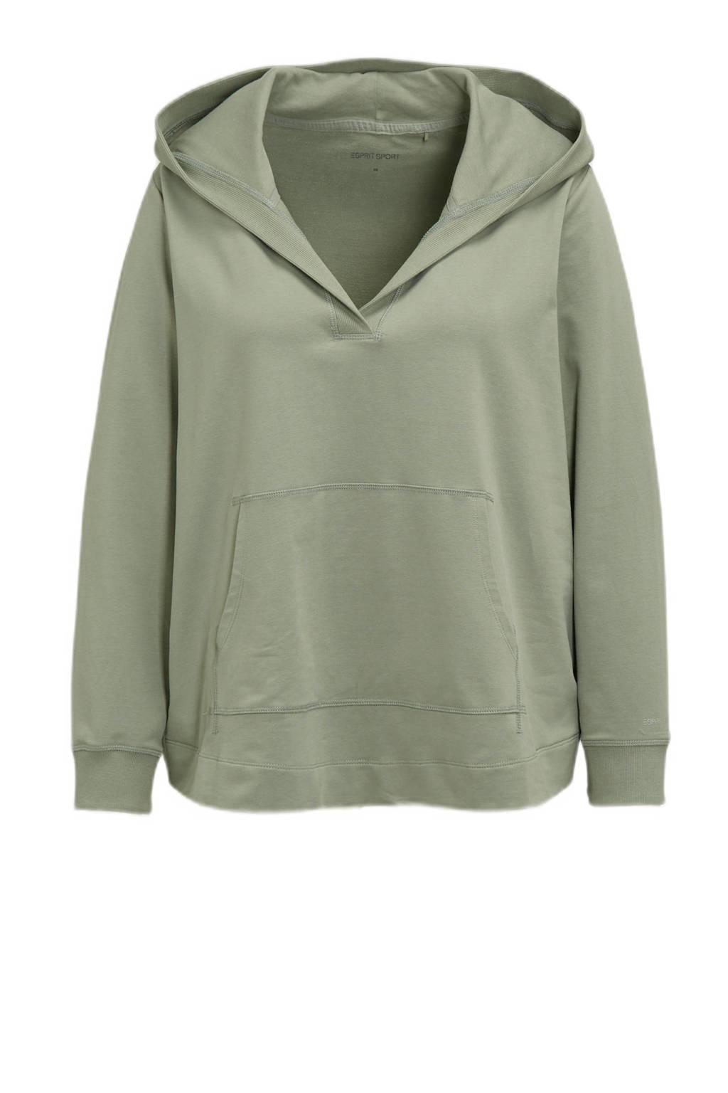 ESPRIT Women Sports Plus Size sportsweater groen, Groen
