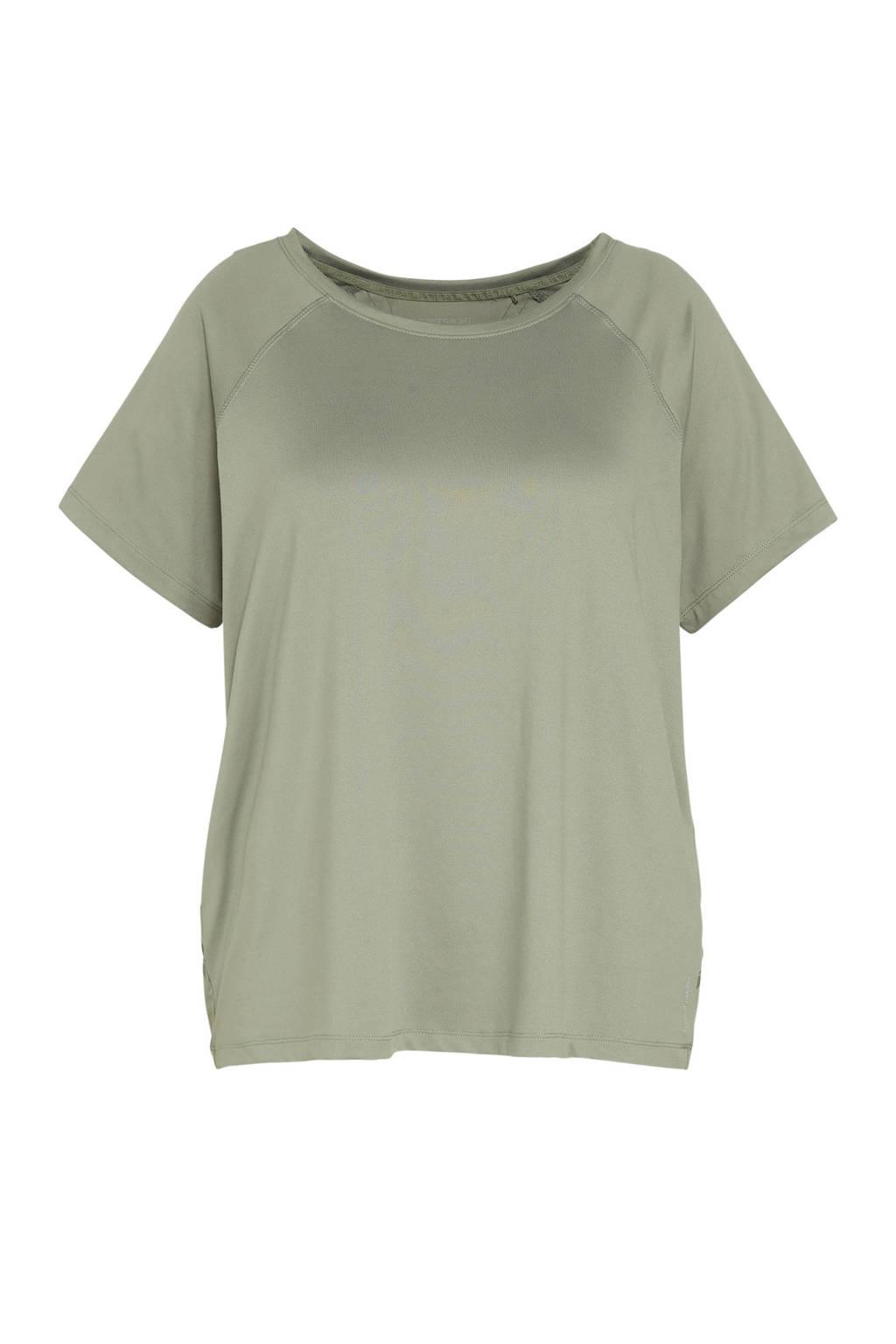 ESPRIT Women Sports Plus Size sport T-shirt groen, Groen
