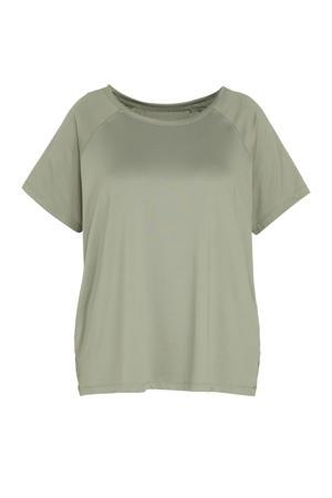 Plus Size sport T-shirt groen