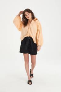 Eksept by Shoeby semi-transparante blouse Sun met borduursels zalm, Zalm