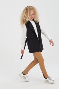 Shoeby Jill & Mitch blouse Loiza met printopdruk wit, Wit