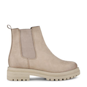 Mink  nubuck chelsea boots beige