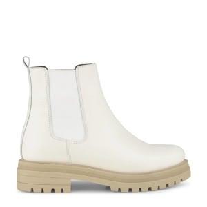 Mink  leren chelsea boots off white