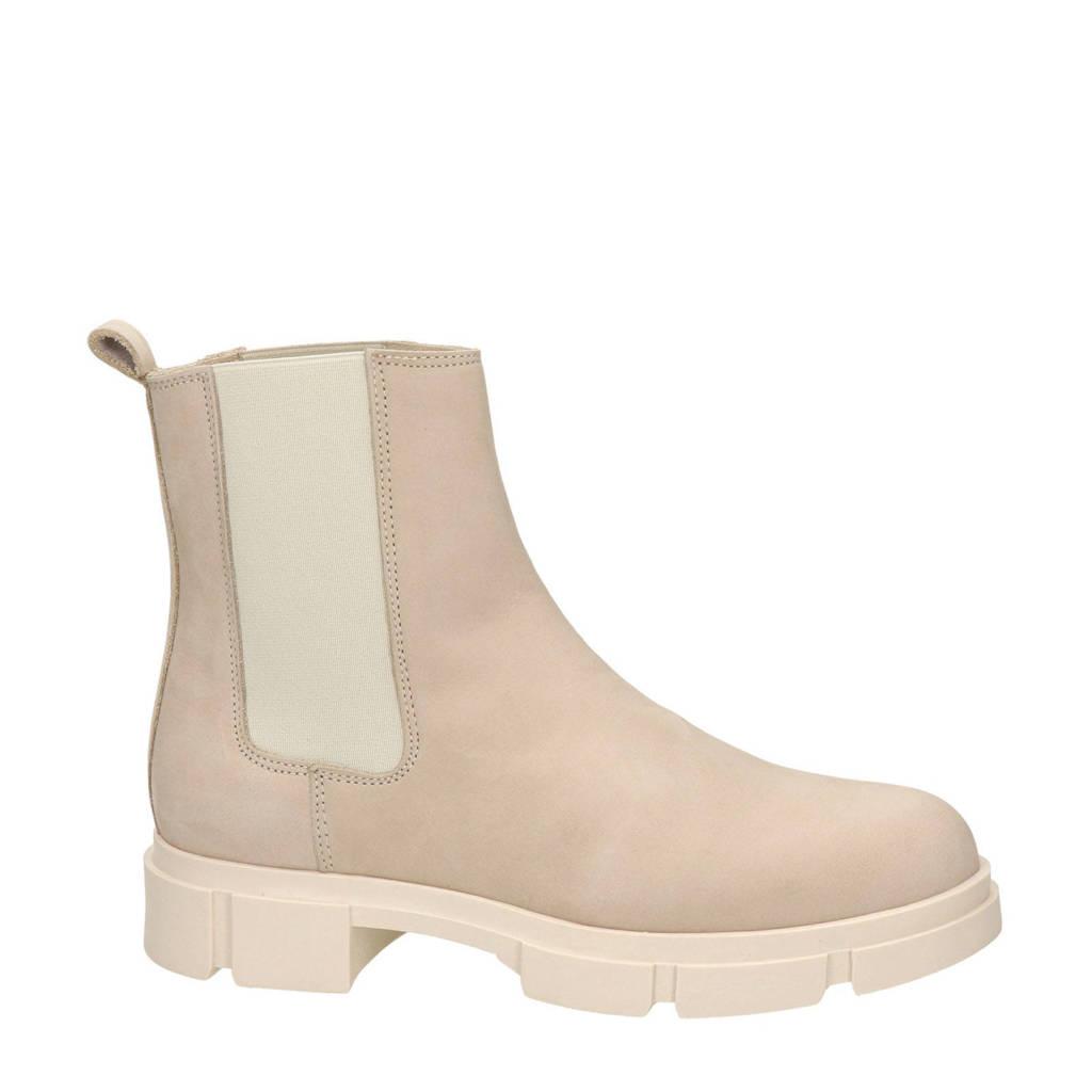 Nelson   nubuck chelsea boots beige, Beige/ecru