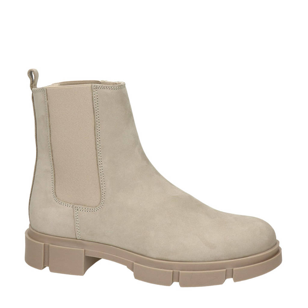 Nelson   nubuck chelsea boots taupe, Taupe