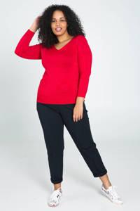 Paprika trui met glitters rood, Rood