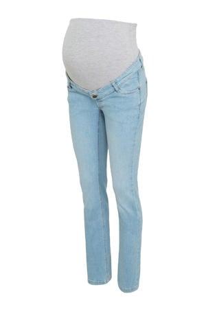 low waist slim fit zwangerschapsjeans met biologisch katoen lichtblauw