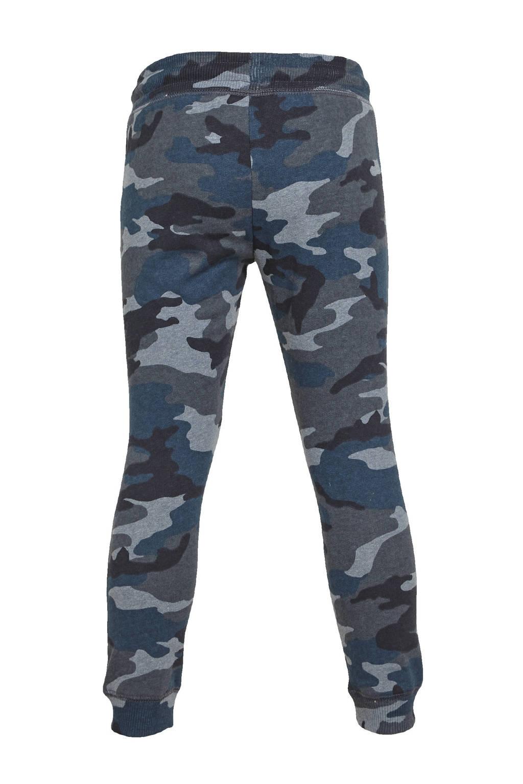 C&A Palomino joggingbroek met camouflageprint blauw/zwart/grijs, Blauw/Zwart/Grijs