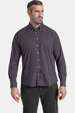 geruit oversized overhemd EARL JAYDEN Plus Size donkerblauw/donkerrood