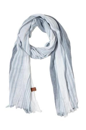sjaal lichtblauw/wit