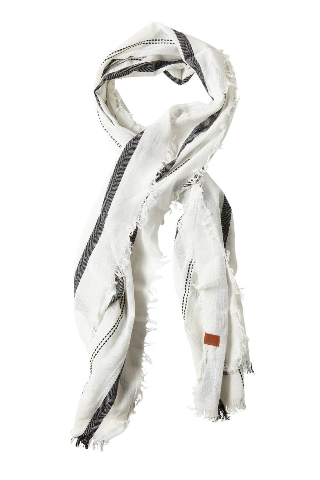 Sarlini sjaal wit/zwart, Wit/zwart