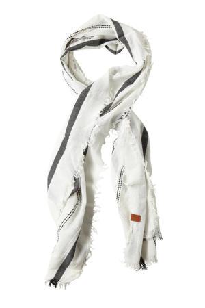 sjaal wit/zwart