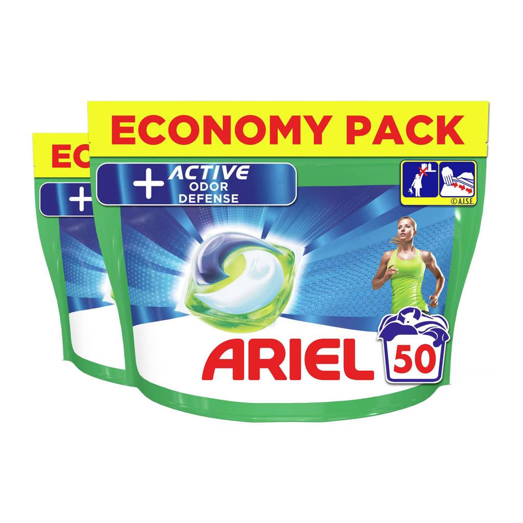 Ariel All-in-1 Pods + Actieve Geurbestrijding 2 x 50 Wasmiddel Pods - 100 wasbeurten
