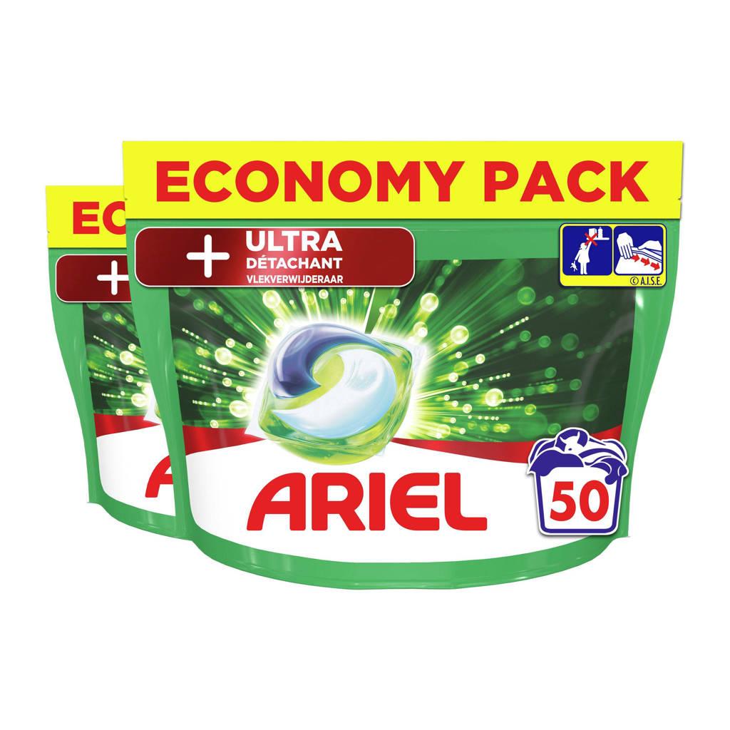 Ariel All-in-1 Pods +Ultra 2 x 50 Wasmiddel Pods - 100 wasbeurten