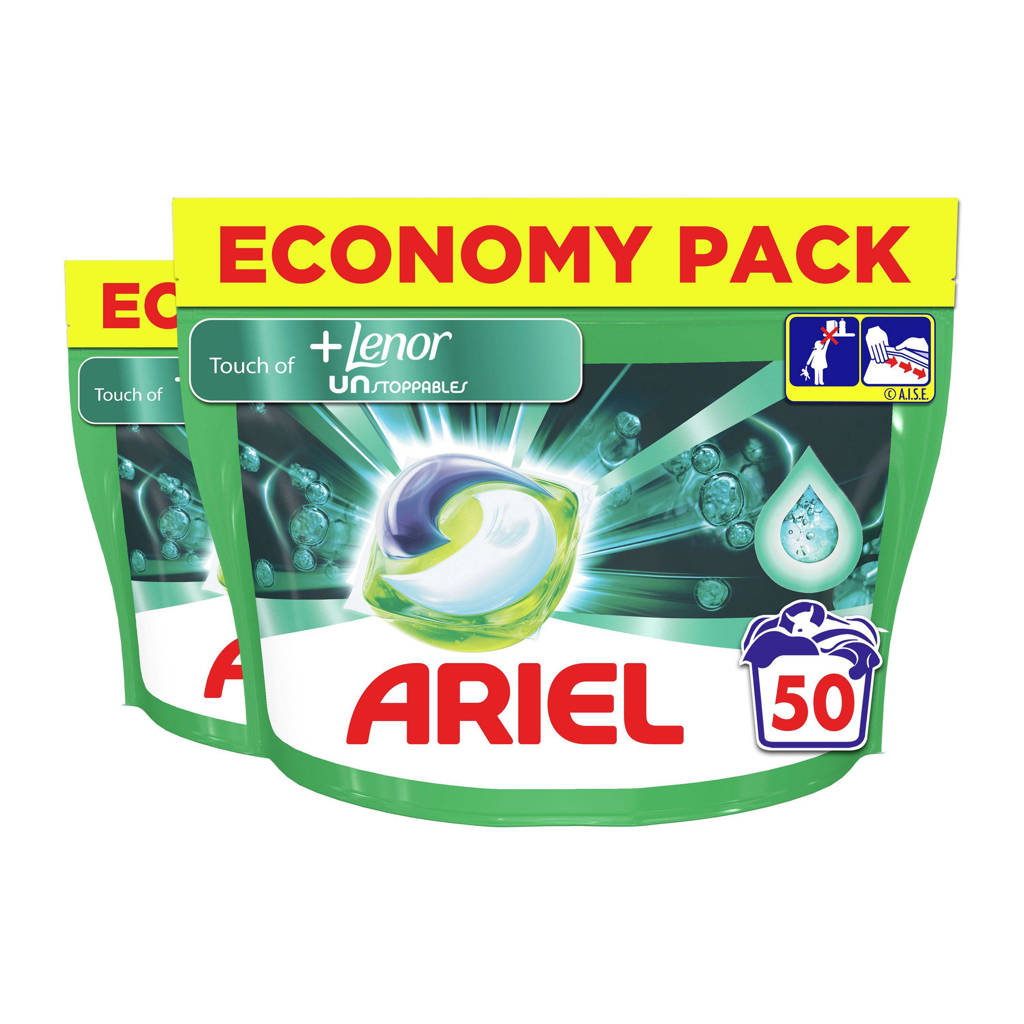 Ariel All-in-1 Pods + Unstoppables 2 x 50 Wasmiddel Pods - 100 wasbeurten