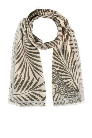 sjaal beige/kaki