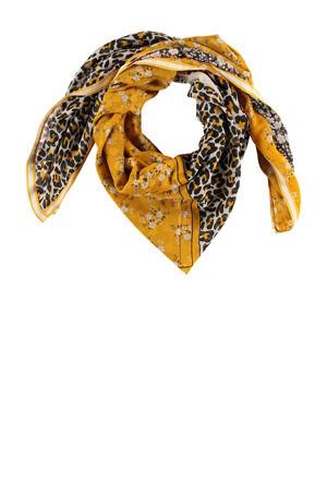 sjaal okergeel/beige