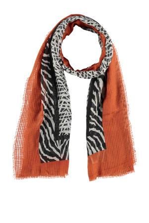 sjaal brique/zwart