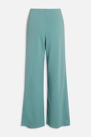 high waist loose fit broek turquoise