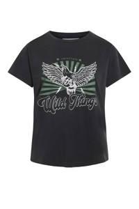 SisterS Point T-shirt met printopdruk antraciet, Antraciet