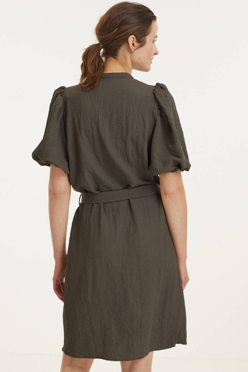 SisterS Point jurk met ceintuur kaki, Kaki