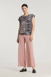 SisterS Point high waist loose fit broek lichtroze, Lichtroze