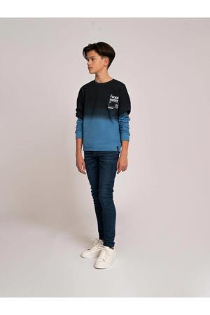 dip-dye sweater Forward blauw/zwart