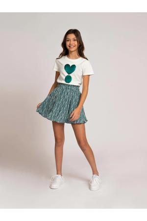 T-shirt Valerie met reversible pailletten offwhite
