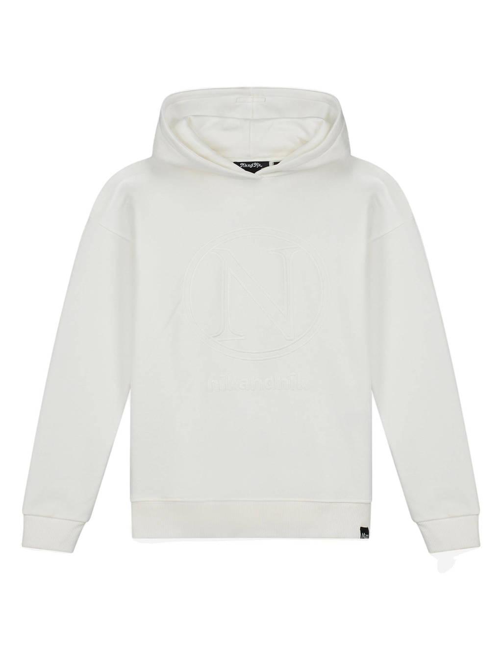 NIK&NIK hoodie Vida met logo offwhite, Offwhite