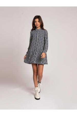jurk Ilona van gerecycled polyester blauw