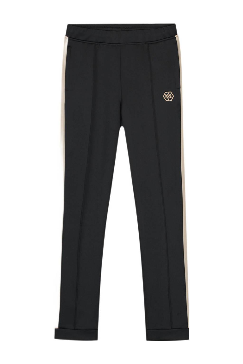 NIK&NIK broek Walden met zijstreep zwart, Zwart